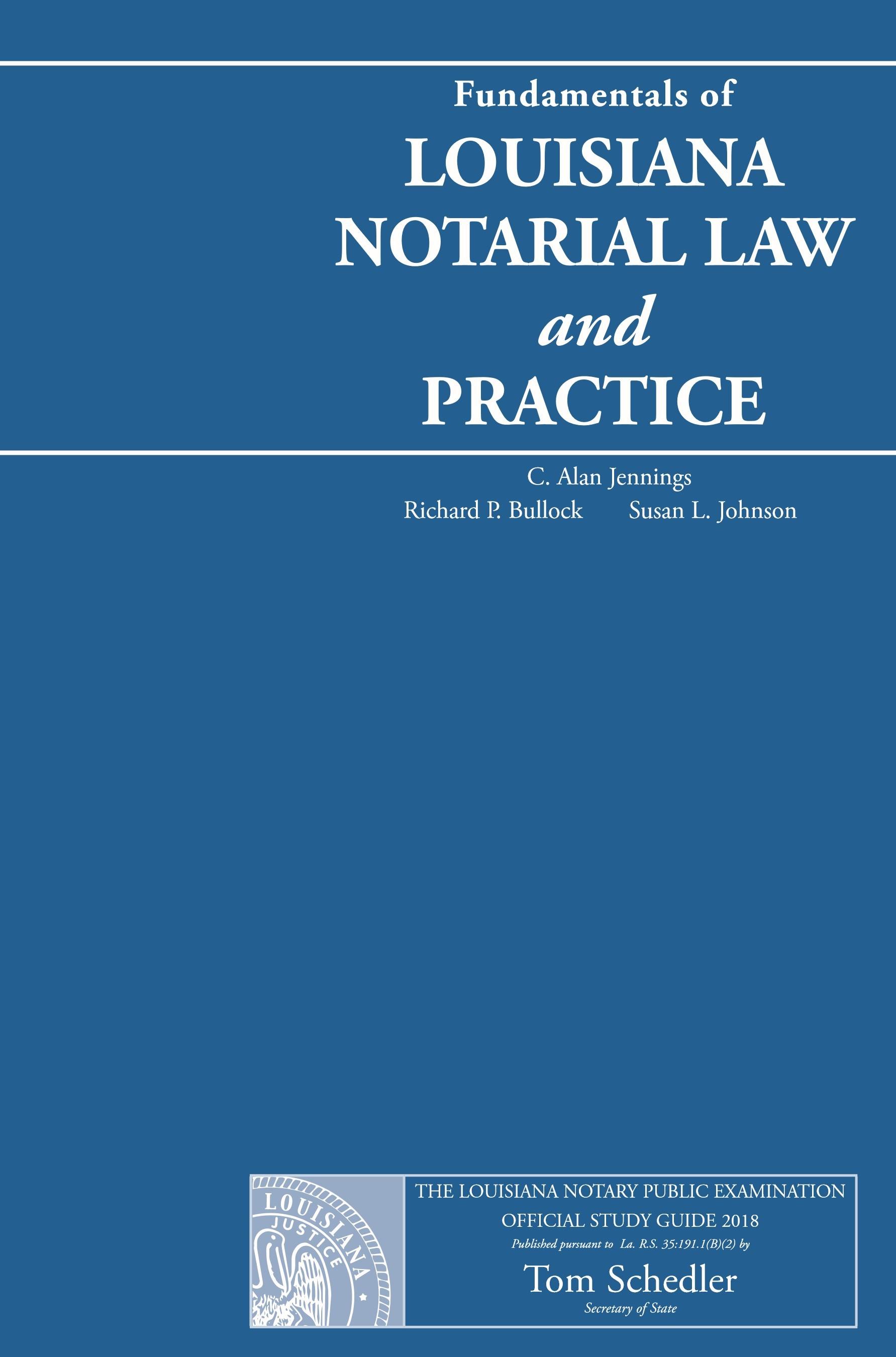 Louisiana notary Practice exam