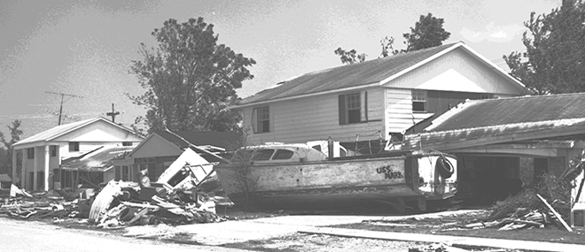 Our state has endured much devastation at the hand of Mother Nature, as captured here from 1969's Hurricane Camille. John Gasquet, photographer